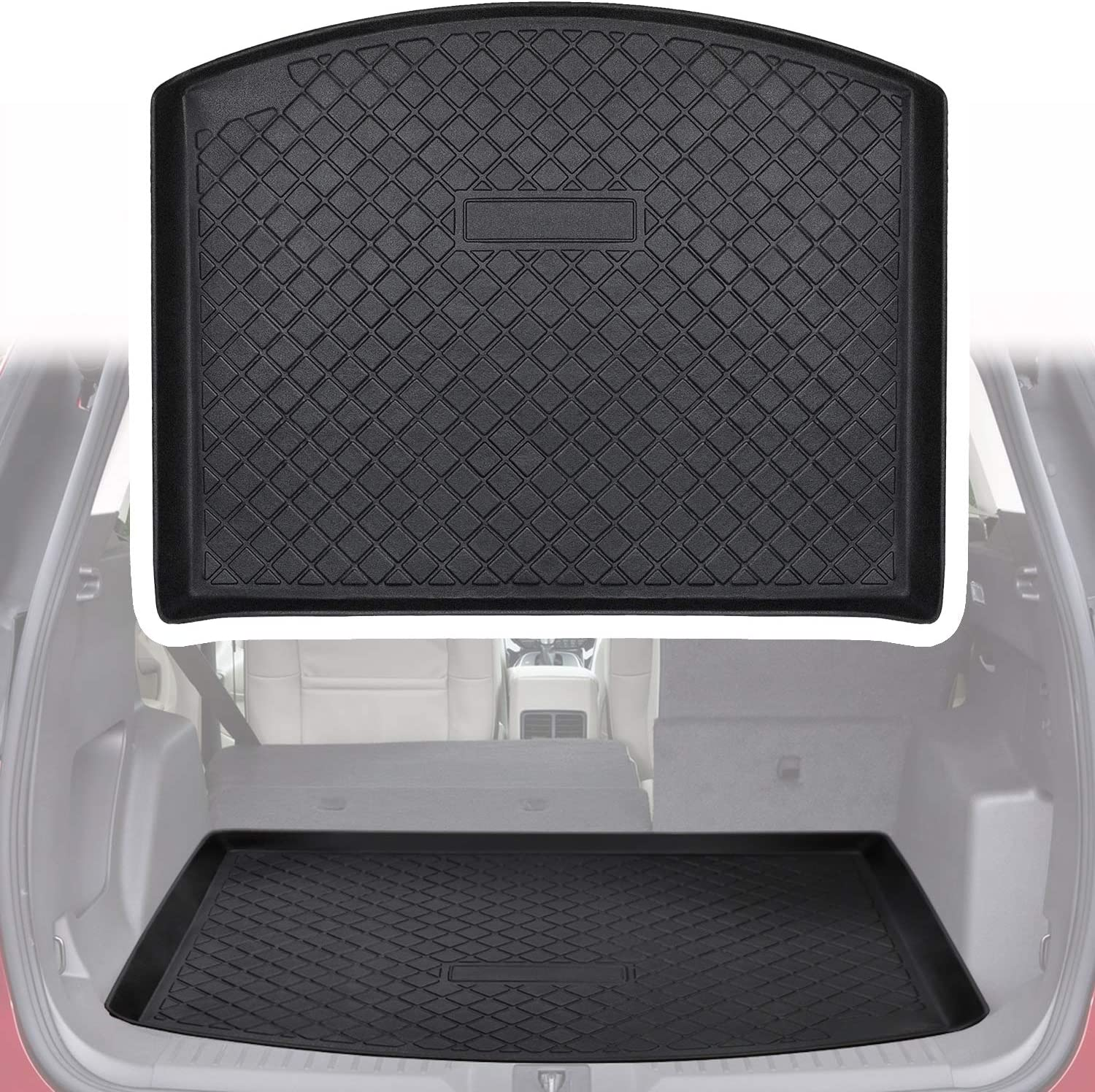 Yoursme Cargo Liner Rear Cargo Tray Trunk Floor Mat Waterproof Protector for Ford Escape 2013-2019