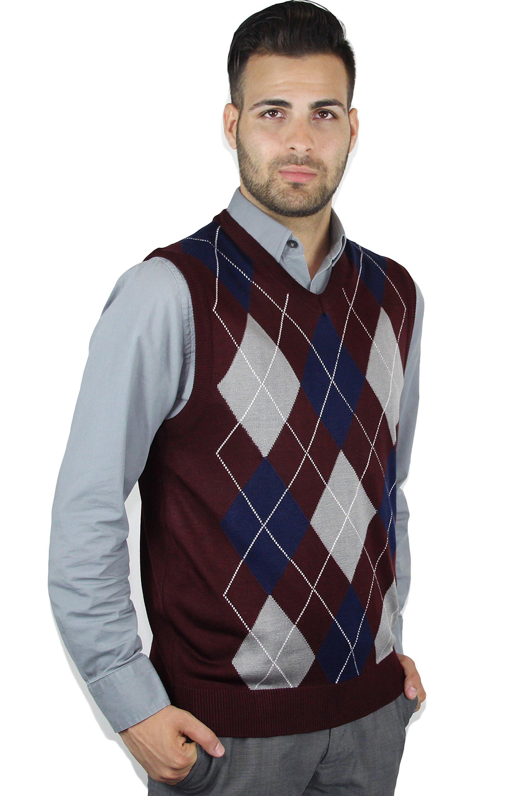 Blue Ocean Argyle Sweater Vest-2X-Large