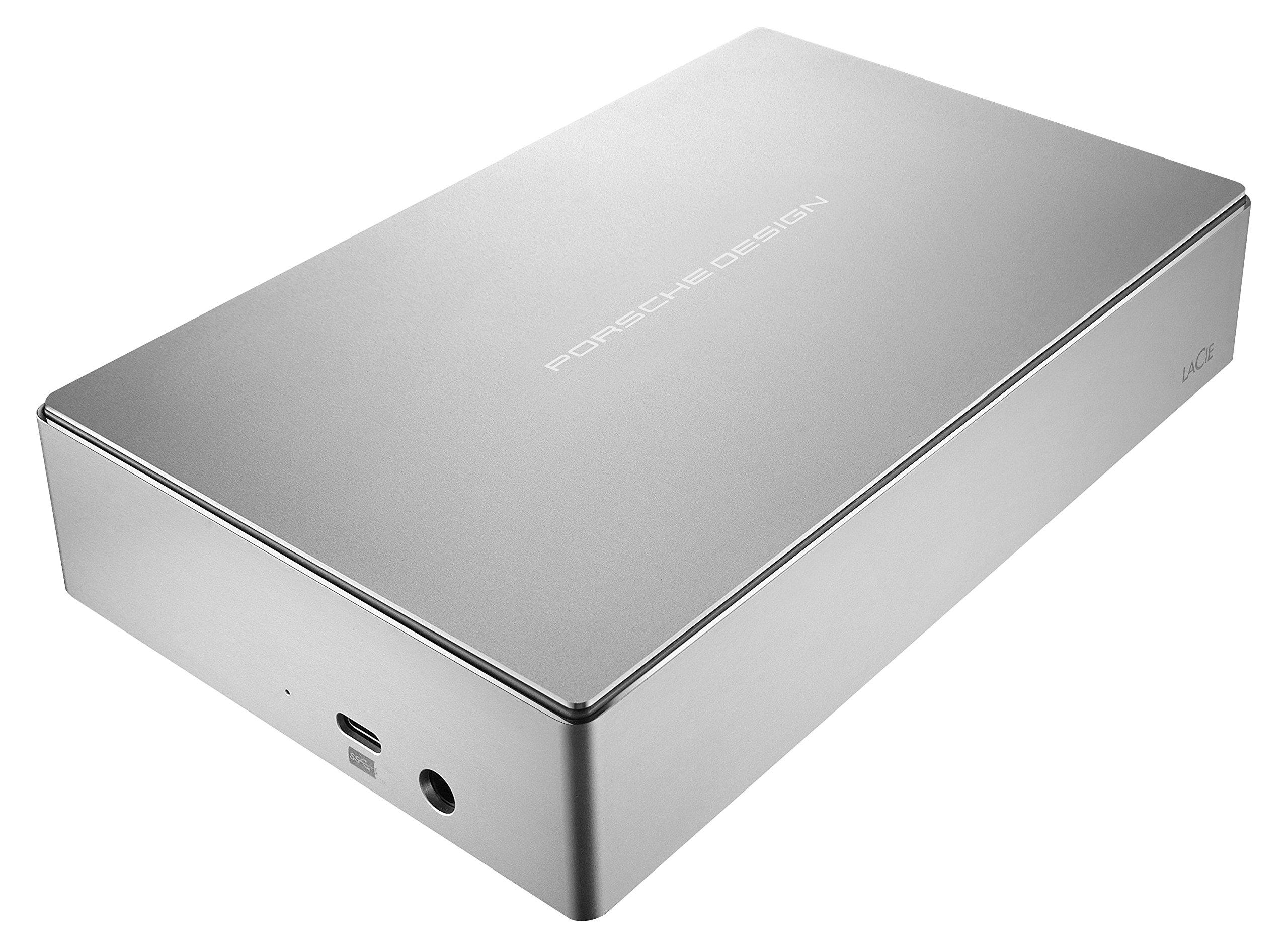 LaCie Porsche Design 8TB USB-C Desktop Hard Drive, Silver (STFE8000100)