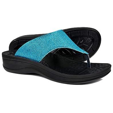 fc6d654e1b15d AEROTHOTIC Comfortable Arch Support Flip Flops for Women (US-Women-6
