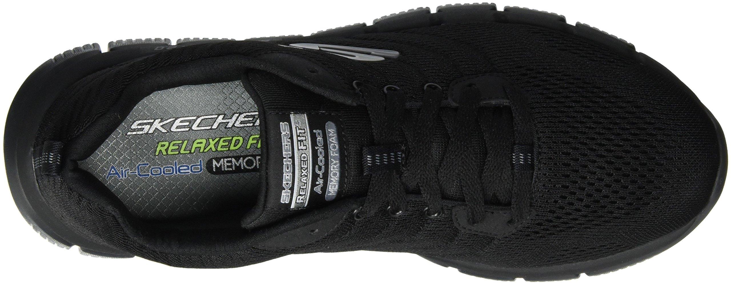 Skechers Sport Men's Skech Flex 2.0 Milwee Fashion Sneaker,Black,9 M US by Skechers (Image #7)
