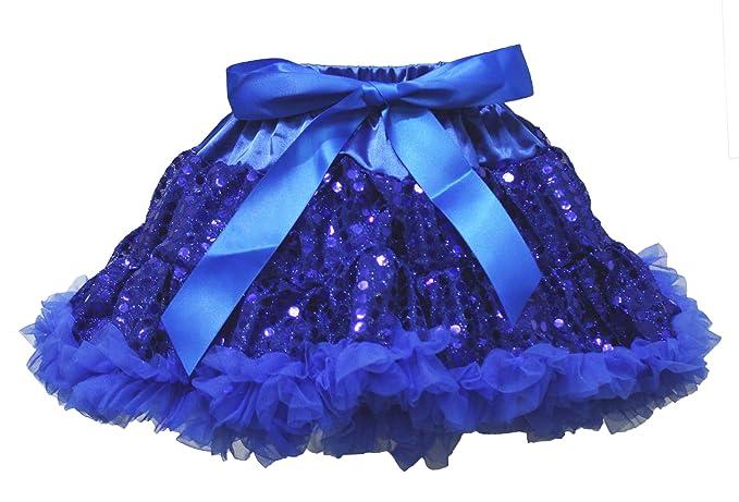 acc02578c81e Amazon.com  Wedding Dress Royal Blue Sequin Pettiskirt Skirt Tutu ...