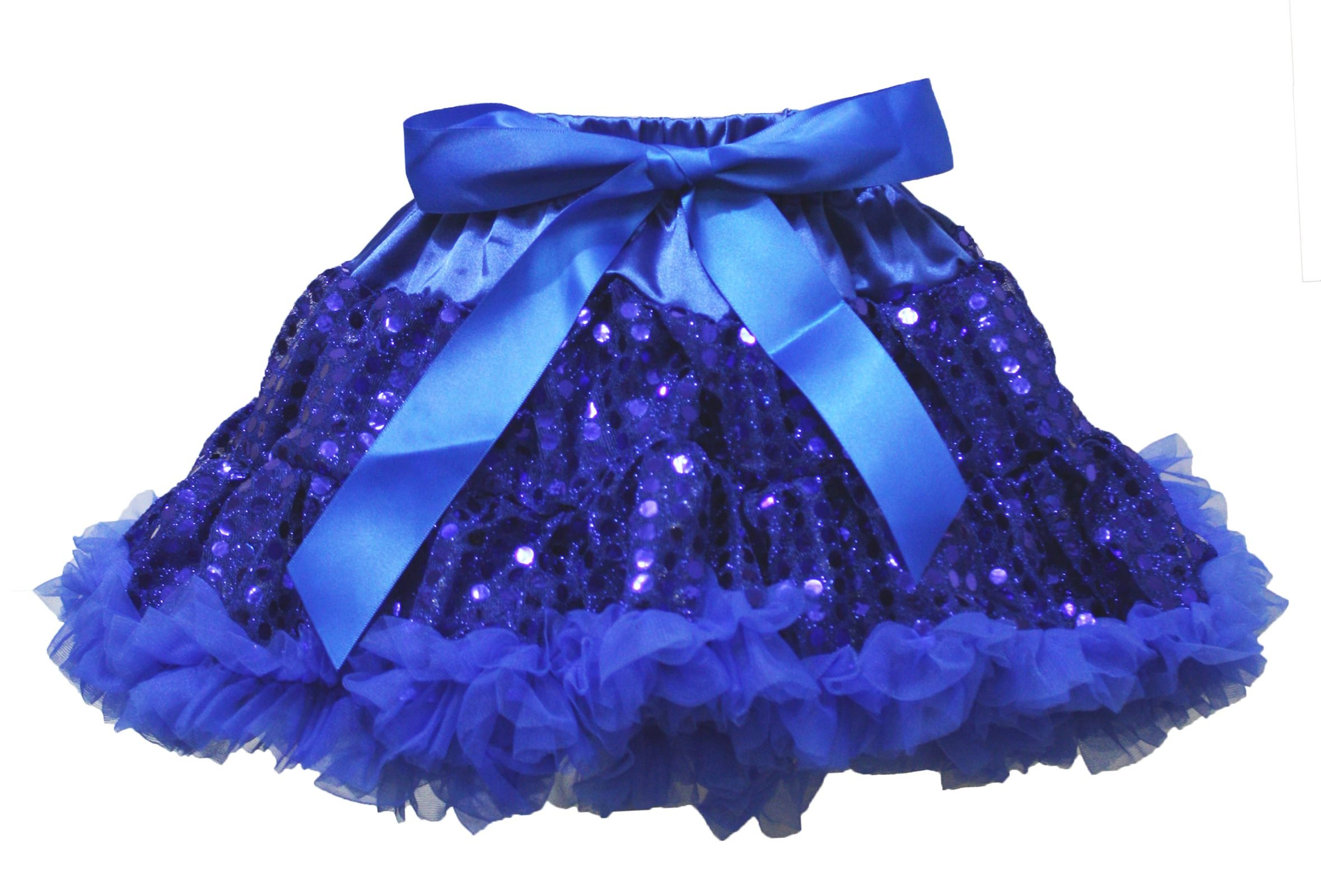 Wedding Dress Royal Blue Sequin Pettiskirt Skirt Tutu Girl Party Clothing 1-8y (4-5year)
