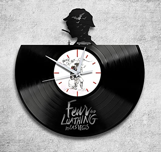 Gonzo White Vinyl Record Wall Clock Handmade Perfect Gifts For Birthday Wedding Anniversary Valentines Mothers