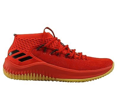 more photos e5288 e51e4 adidas Dame 4, Chaussures de Basketball Homme, Rouge ScarleHirereCblack,