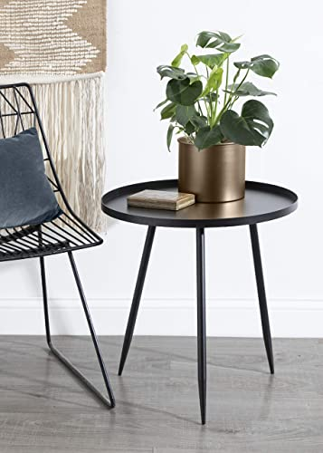 Kate and Laurel Duvall Modern Round Metal Side Table