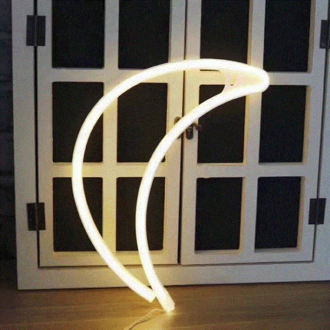 Soft White Soft White, Moon Neon Signs LED Decor Light Wall Decor for Christmas Decoration Birthday Party Home LED Decorative Lights Wedding Event Banquet Party Decor KoolTech