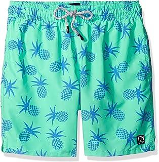 b1c0e3f9c91a1 Tom & Teddy Men's Palms Swim Trunks | Amazon.com