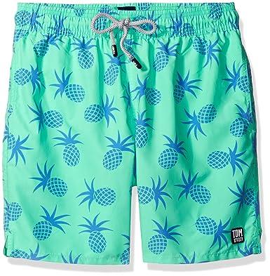 608e9fad74851 Tom & Teddy Men's Pineapple Swim Trunks | Amazon.com
