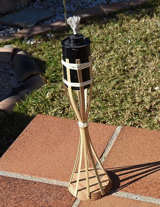 Faura - Antorcha de bambú con Base: Amazon.es: Jardín