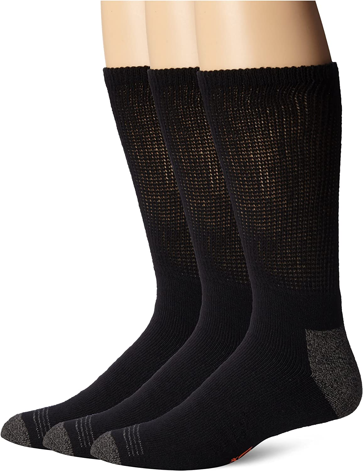 Dockers Men's 3 Pack Cushion Comfort Non Binding Basic Cotton Crew Socks - Big & Tall