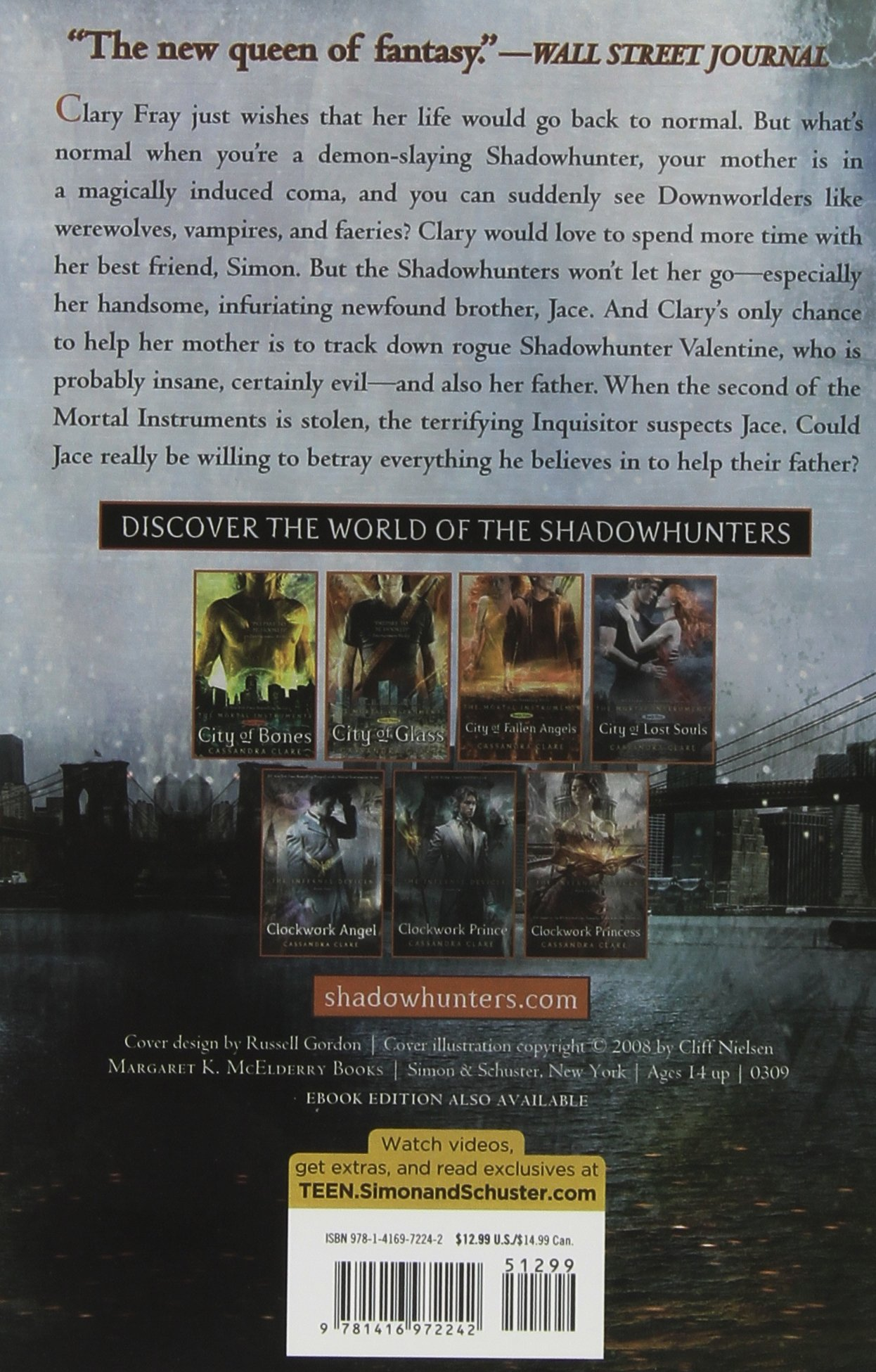 Amazon: The Mortal Instruments: City Of Bones; City Of Ashes; City Of  Glass (9781442409521): Cassandra Clare: Books
