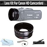 Wide Angle Lens Kit For CANON VIXIA HF R82, HF R80, HF R800, HF R700, HF R72, HF R70 Camcorder Includes High Definition .43x Wide Angle Lens W/ Macro + LensPen Cleaning Kit + Lens Cap Keeper + More