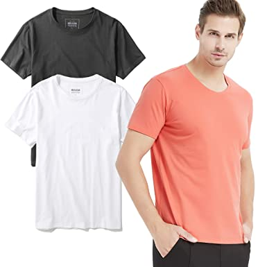 a0187a3380d Amazon.com  Plain t-Shirts for Men