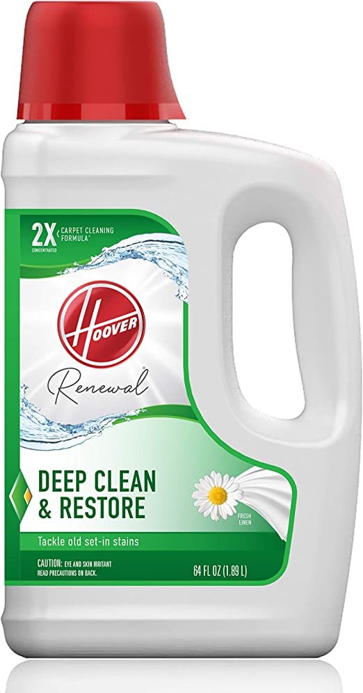 Amazon Com Hoover Renewal Deep Cleaning Carpet Shampoo Concentrated Machine Cleaner Solution 64oz Formula Ah30924 White Home Kitchen