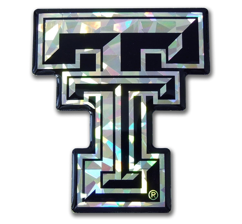 Elektroplate Texas Tech NCAA Silver Reflective 3D Decal Domed Auto Sticker Emblem