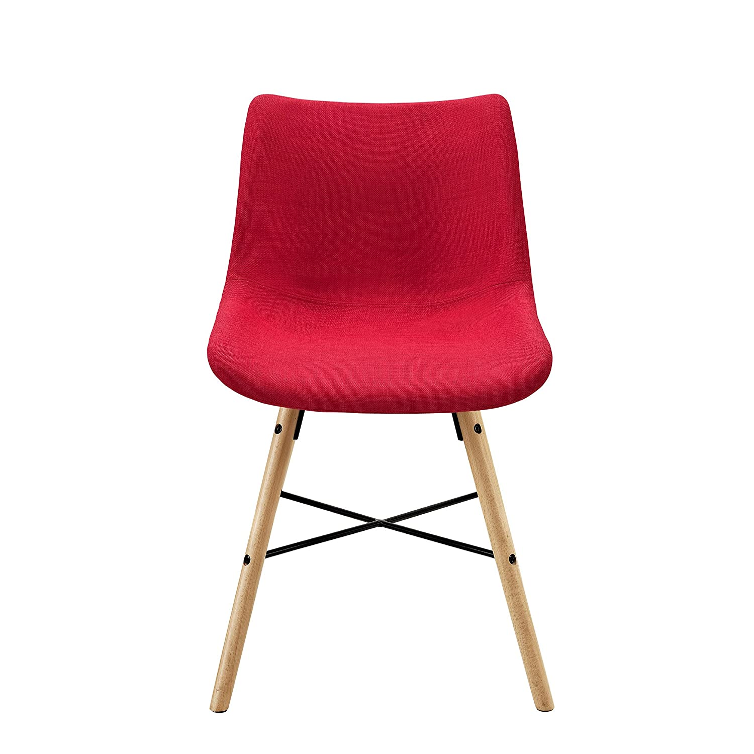 Red Set of 2 WE Furniture AZH18SNO2RD Dining Chair