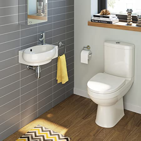 ibathuk cloakroom ceramic suite small compact basin sink close