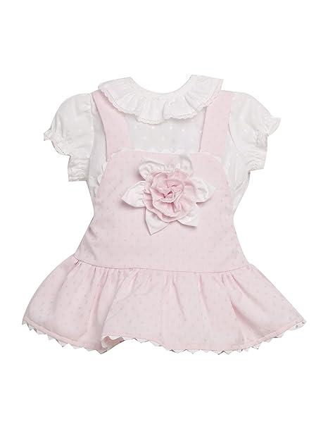 CONJUNTO bebé niña rosa CLAVEL _ vestido bebe rosa, vestido bebé fiesta, vestidos niña