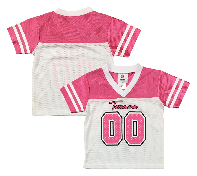pink toddler texans jersey