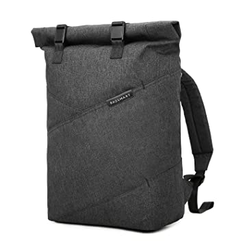 732eef8e04cd BAGSMART Mens Roll-Top Laptop Backpack Casual Cycling Rucksack College  Backpack Fit Up to 15.6 Inch Laptop
