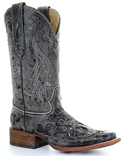 0a0232d9ca6 Corral Women's A2404 Snake Inlay Brown Fashion Western Cowboy Boots