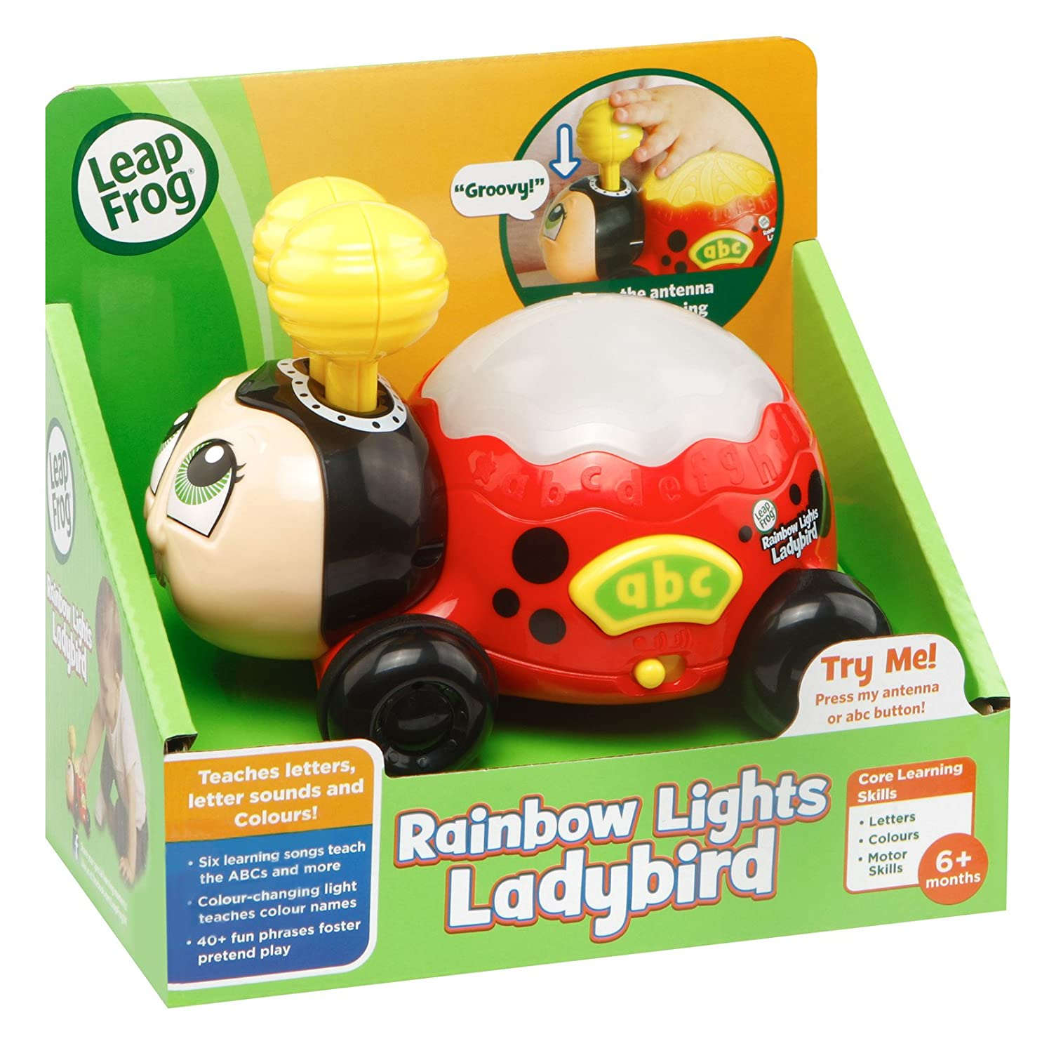 4ebfb3f35a93 LeapFrog 601603 Rainbow Lights Ladybird Toy: Amazon.co.uk: Toys & Games