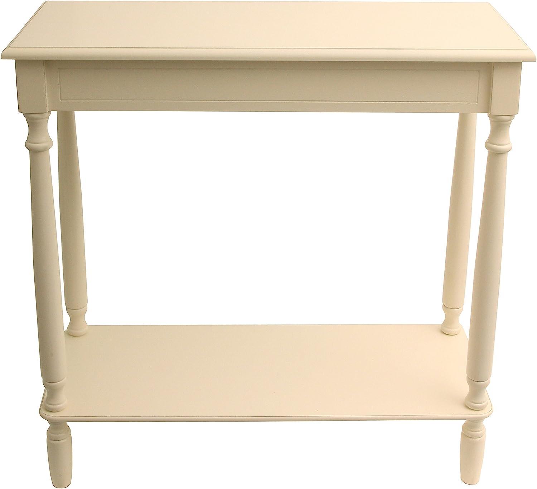 "Décor Therapy FR1802 Console Table, 28.25"" W x 11.8"" D x 28.25"" H, Antique White"