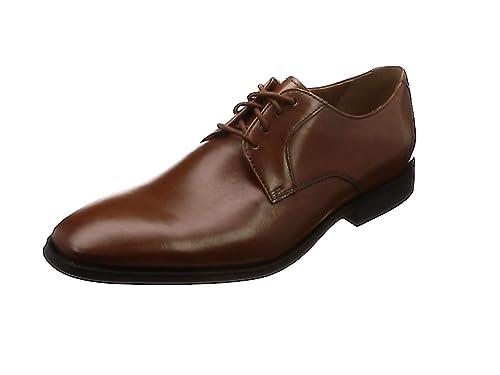 Prangley Walk, Zapatos de Cordones Derby para Hombre, Negro (Black Leather), 39.5 EU Clarks