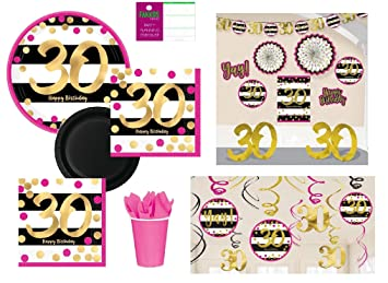 Amazoncom 30th Birthday Decorations and Party Supplies in Pink