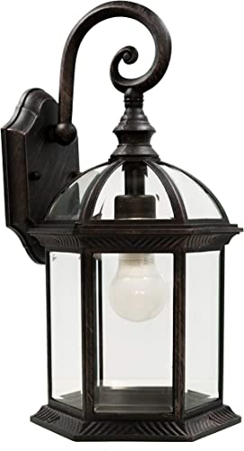 Trans Globe Lighting 4181 RT Outdoor Wentworth 15.75 Wall Lantern, Rust Renewed
