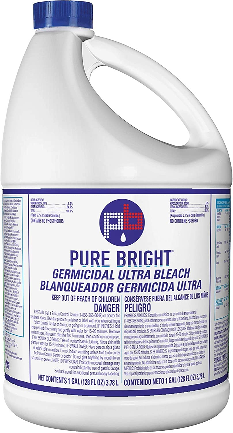 KIK 8635042 Pure Bright Ultra Bleach 1 Gal White