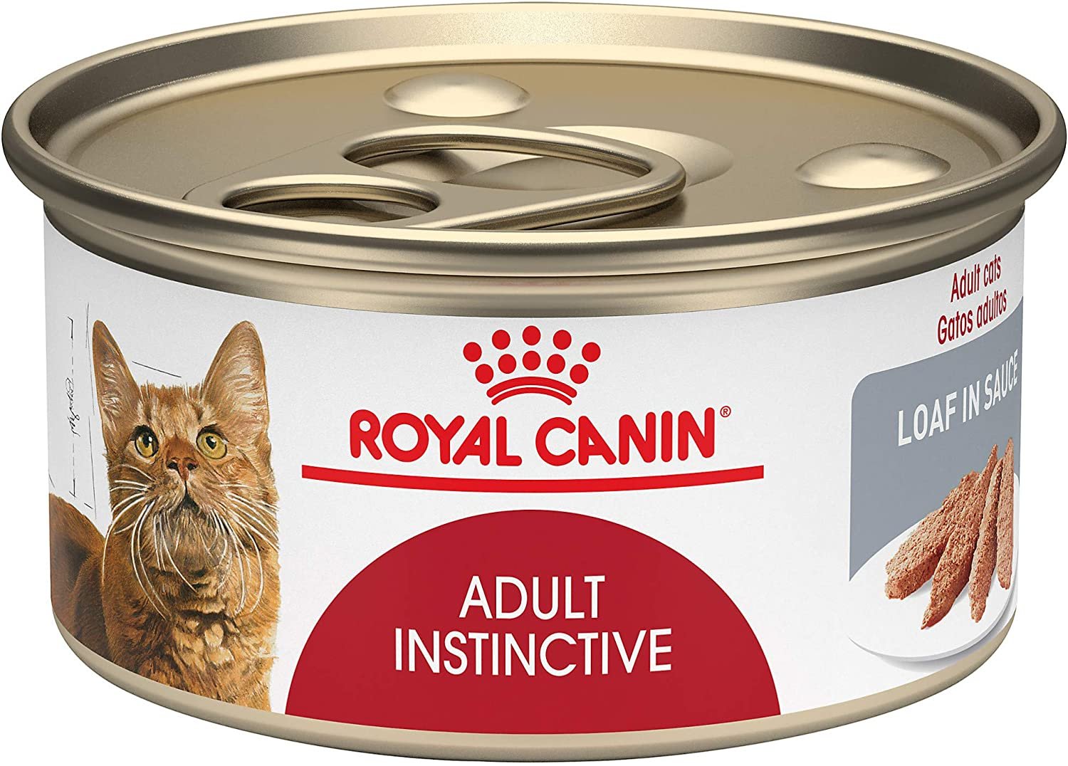 Royal Canin Feline Health Nutrition Adult Instinctive Loaf In Sauce Canned Cat Food, 3 oz Can (Case of 24)