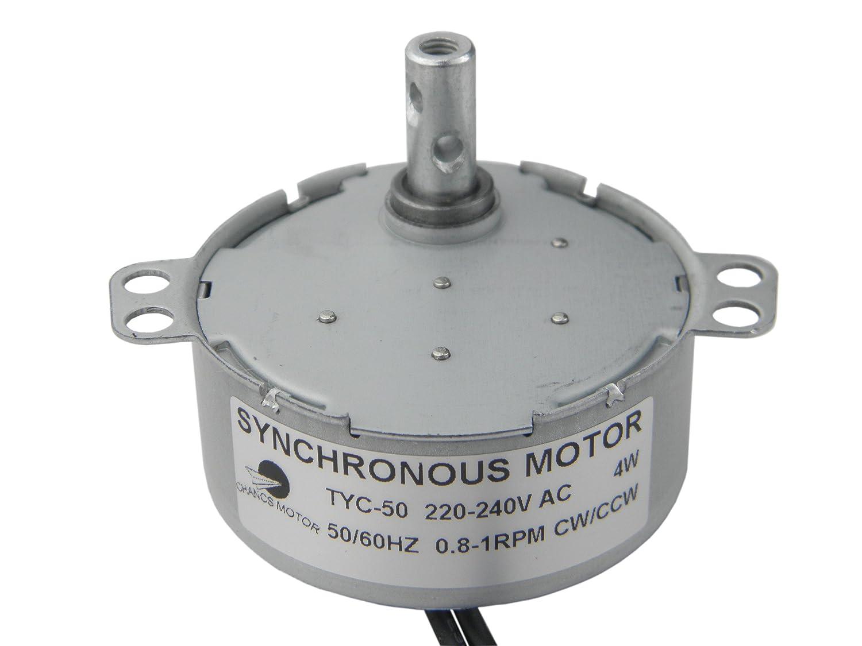 TYC-50 Moteur synchrone 220V AC 0.8-1RPM CW/CCW Torque 10Kg.cm CHANCS