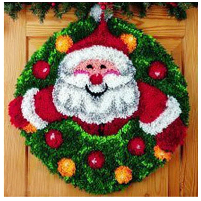 7 Modell Weihnachten Knü pfteppich fü r Kinder und Erwachsene zum Selber Knü pfen Teppich Latch Hook Kit child Rug Christmas111 52 by 52 cm Beyond Your Thoughts