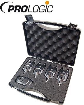 Prologic Fire Starter Pro Alarma Kit 4 + 1 - Detectores de picada para carpas, picada Set, carpas, para la pesca de carpas: Amazon.es: Deportes y aire libre
