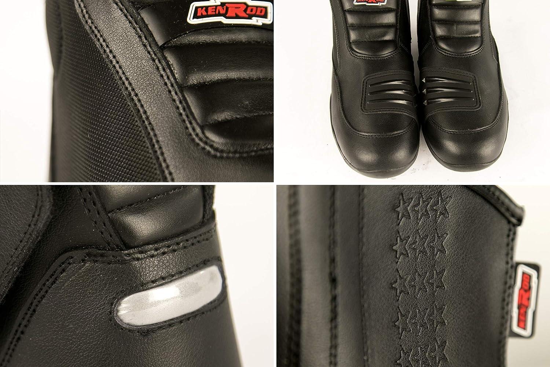 Bottes de Motard en Cuir Zerimar Bottes en Cuir de Moto Bottes Home Cuir Bottes Chaussures Moto
