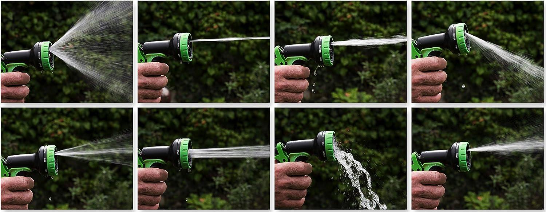 Tuyau deau avec embout pour robinet Somera Tuyaux darrosage extensible avec pistolet de jardin