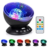 Amazon Price History for:Boomile Remote Control Music Ocean Wave Projector for Baby, 12 LED &7 Colors Night Lighting Light with Built-in Mini Music Player for Living Room and Bedroom(Black)