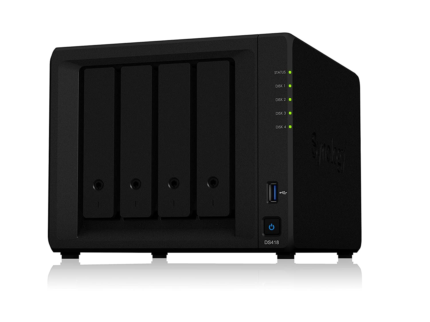 DS418 NAS Mini Tower Ethernet Negro servidor de almacenamiento
