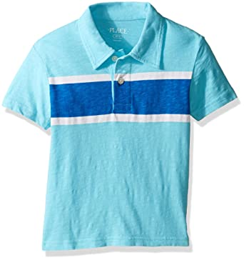 ca528f7b Amazon.com: The Children's Place Boys' Polo Shirt with Stripe: Clothing