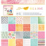 American Crafts Amy Tangerine Rise and Shine Patterned Paper Pad, 12 by 12-Inch