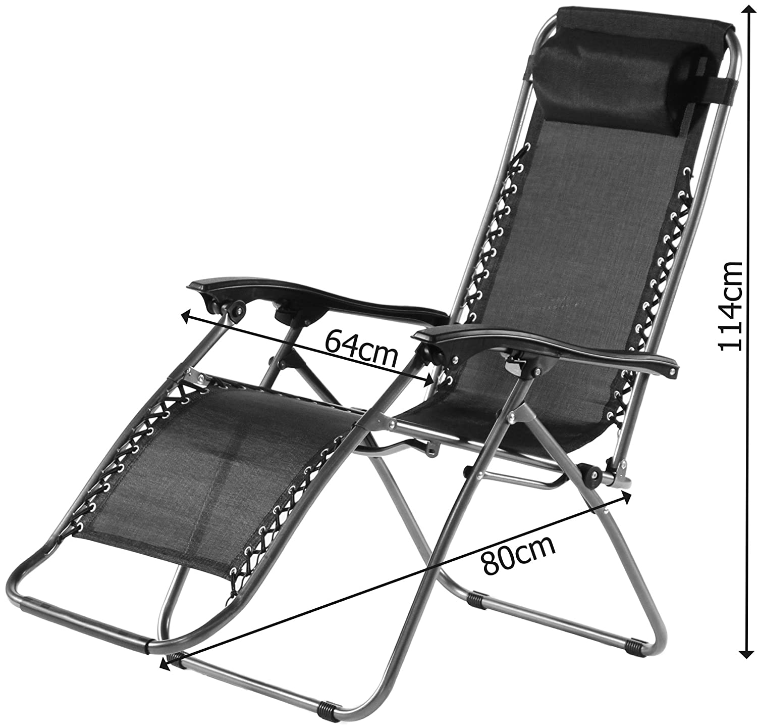charles jacobs deluxe zero gravity foldable reclining chair