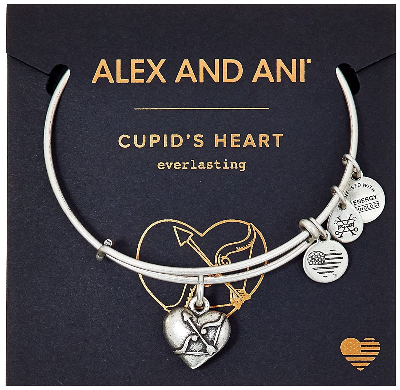 Cupids Heart II Charm Bangle Alex and Ani Womens Path of Symbols