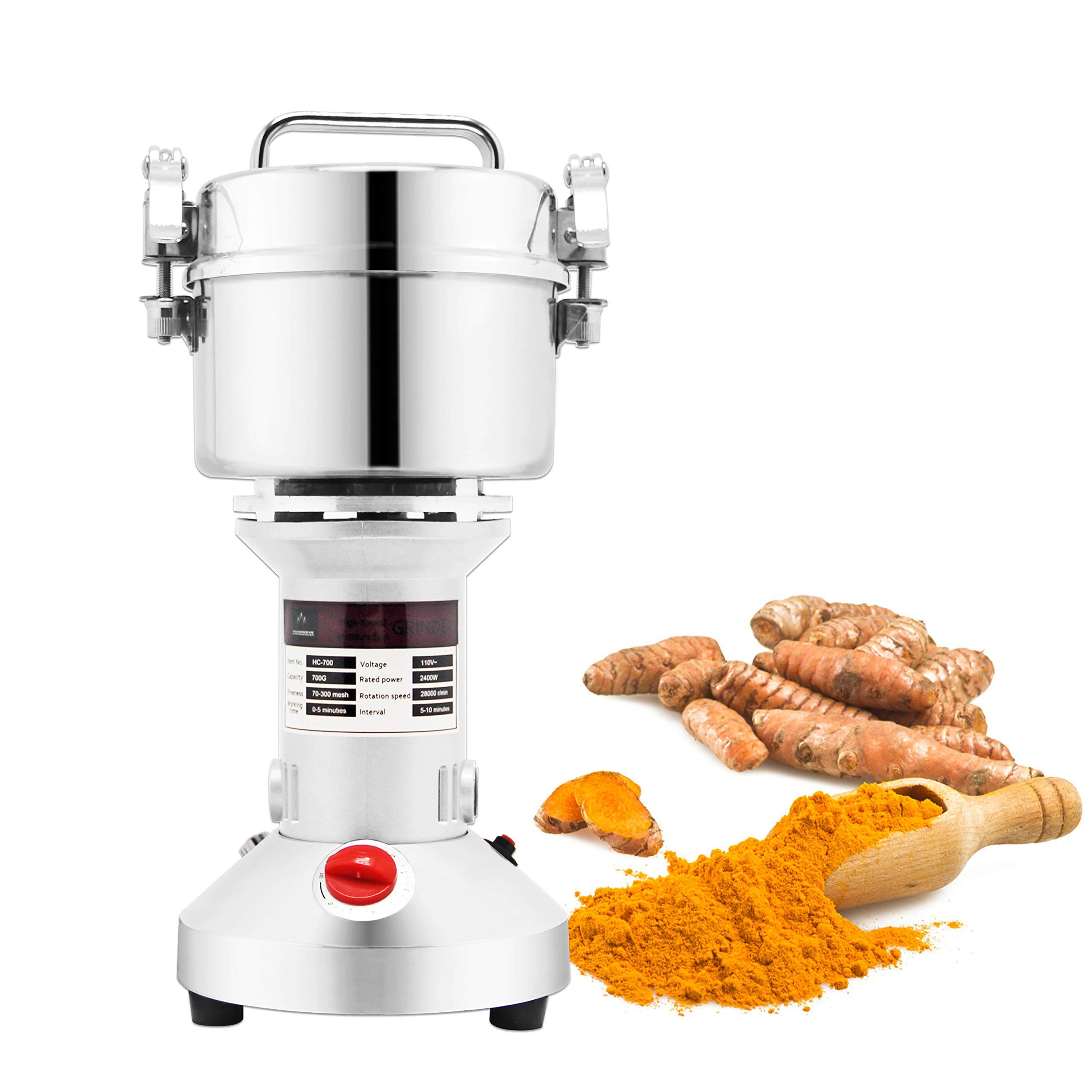 BAOSHISHAN 700g Electric Grain Mill Spice Herb Grinder Coffee Rice Pulverizer Super Fine Powder Machine (110V)