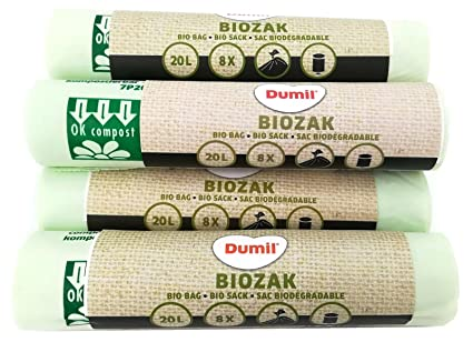 Bolsa Dumil para basura orgánica, verde, 20 Liter 48 Stück