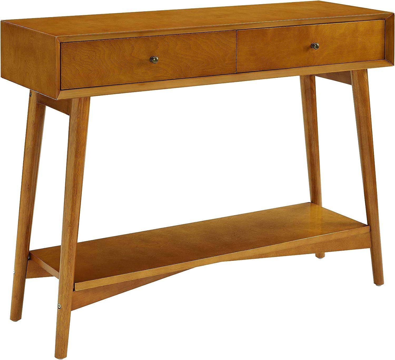 Crosley Furniture Landon Mid-Century Modern Console Table, Acorn