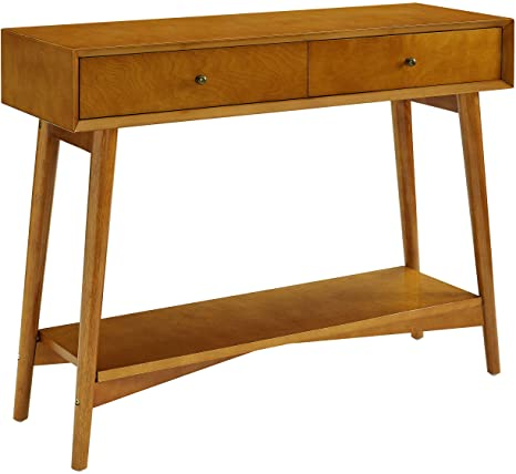 Crosley Furniture Landon Mid-Century Modern Console Table, Acorn