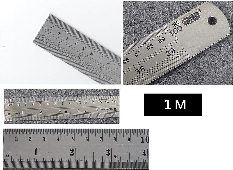 "Stainless Steel Measuring Scale Ruler 1 meter Swordfish 80020-Original 40/"""