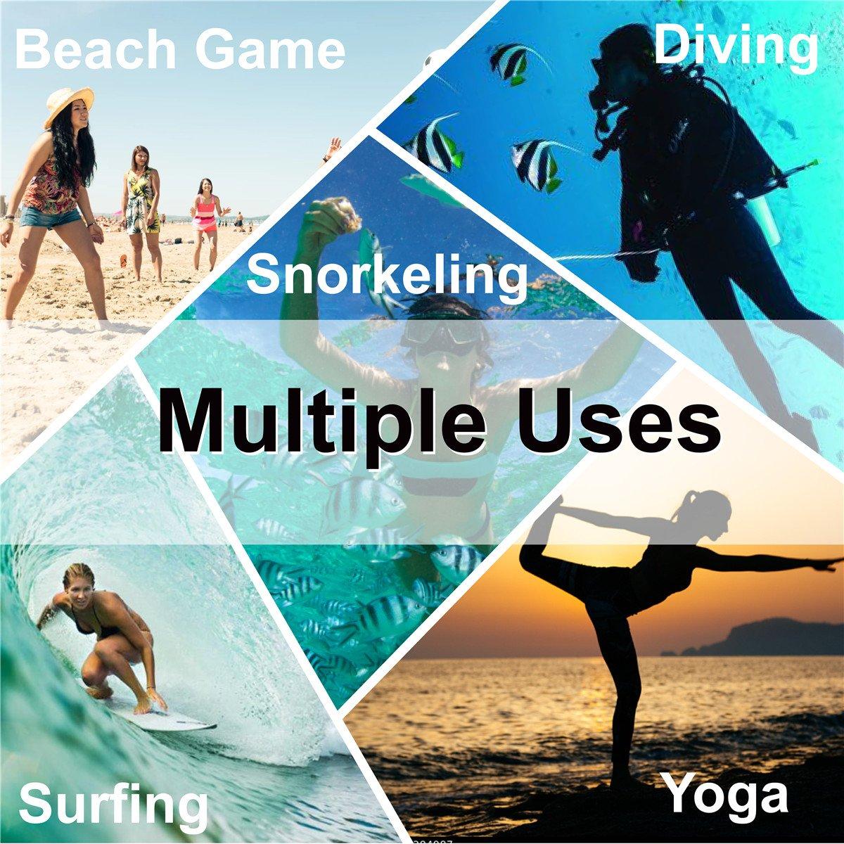JIASUQI Summer Outdoor Beach Pool Swimming Aqua Water Shoes for Women Men Black US 9.5-10.5 Women, 8.5-9 Men by JIASUQI (Image #7)